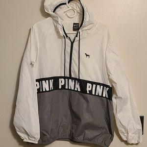 PINK pullover windbreaker jacket